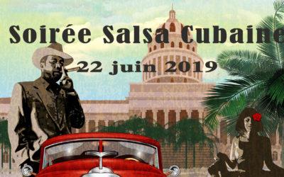 Soirée Salsa – Bachata 22 juin 2019